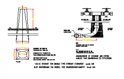 fire-hydrant section design drawing