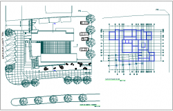 flooring and plantation layout dwg file