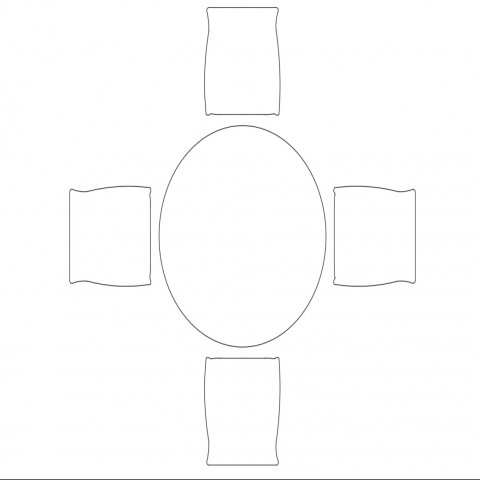 Four seated dining table top view elevation cad block details dwg file