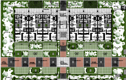 general plan and landscaping of a town