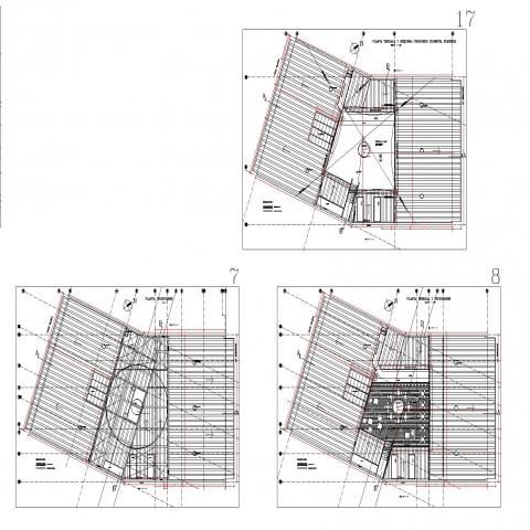 Ground floor to terrace floor house ceiling design detail