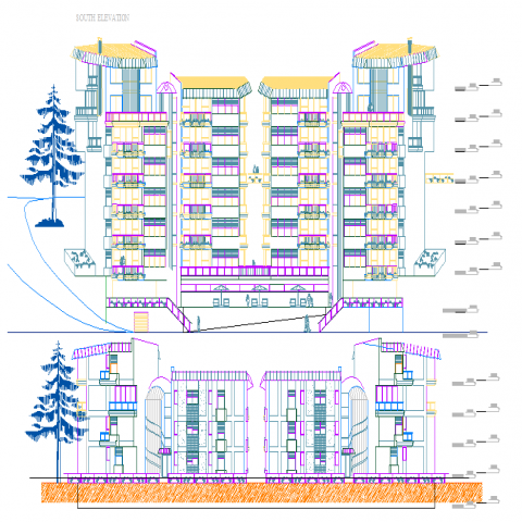 High Rise Building Elevation Design