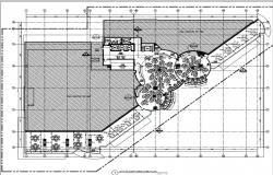 hotel plan form and dividing different zones of dining area as per space and view