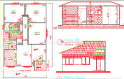 house layout plan and elevation file
