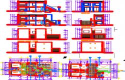 housing layout plan dwg file