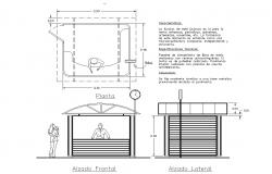 kiosk design autocad dwg files