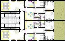 layout plan of a hotel dwg file
