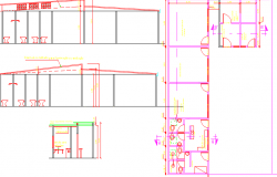 layout plan of a shop dwg file