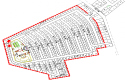 layout plan of residence dwg file