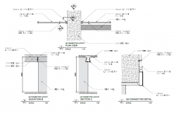 lb connector shop drawing below the beam