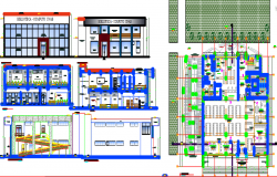 Library plan dwg, library dwg file