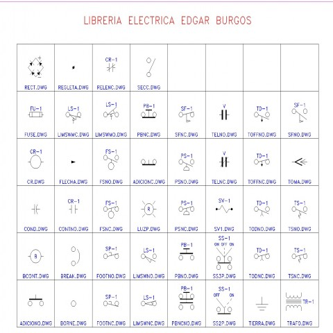 Library electrical symbol detail dwg file