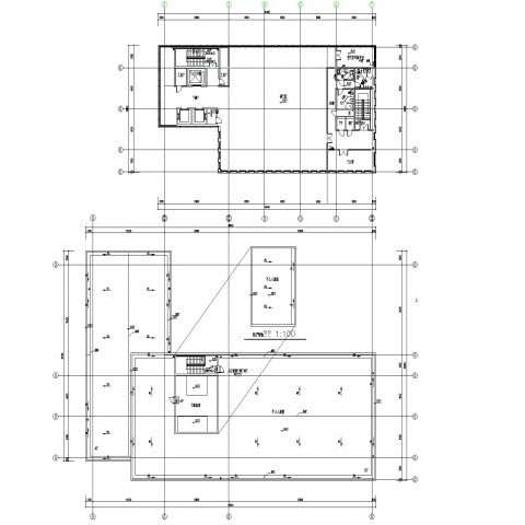 Line commercial building plan layout file