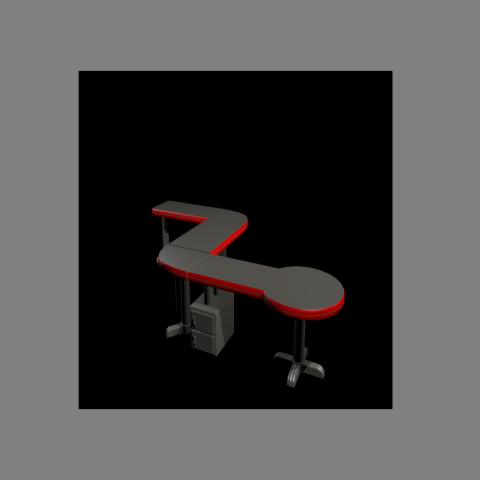 Machinery passage table detail elevation 3d model 3d max file