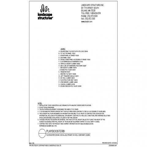 Millisle primary school park component legends details dwg file