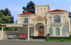 modern luxury vill design in 3d elevation Design.
