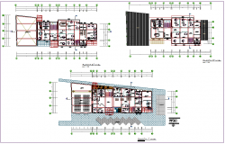 municipal office building plan view detail dwg file