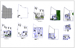 office building detail plan view dwg file