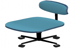 office chair 3d dwg file