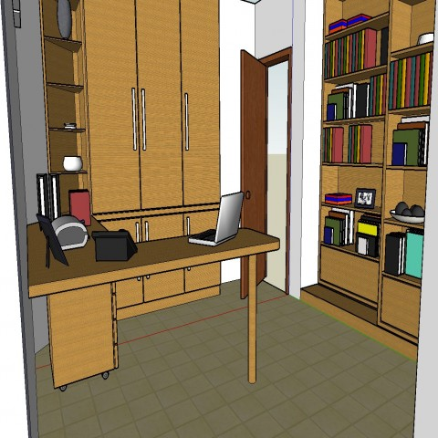 Office furniture and interior 3d drawing details skp file