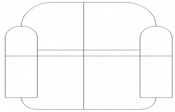 one seater sofa dwg file