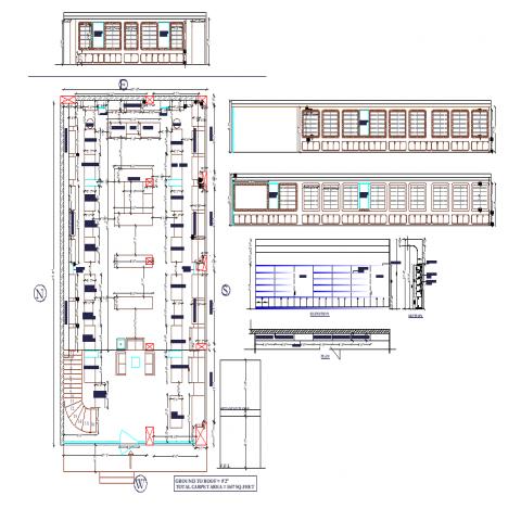 Optics show-room plan detail dwg file.