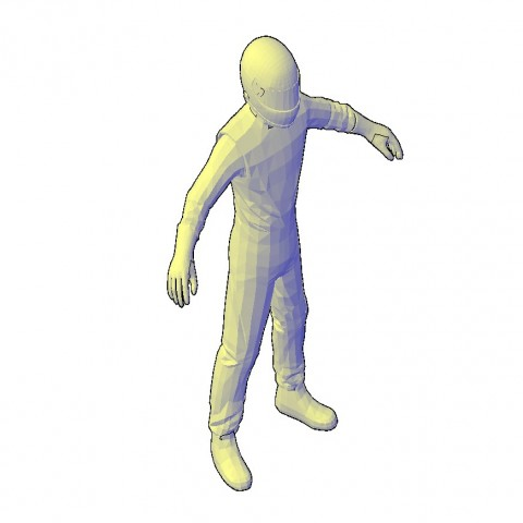 People CAD blocks detail 3d model layout file in dwg format