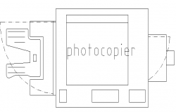 photocopying instrument design drawing