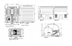 plan of office building 9.00mtr x 11.22mtr with section and elevation in dwg file