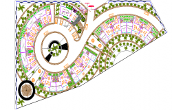 posh luxurious hotel and resort design and layout plan - dwg file