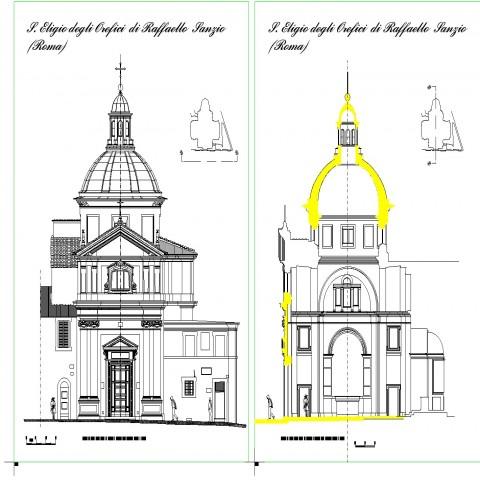 Rafael temple-planes drawing in dwg file.