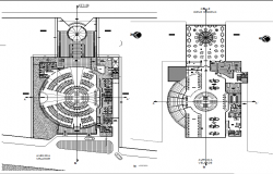 restaurant plan elevation drawing dwg