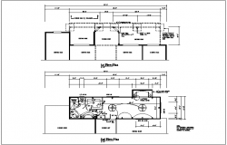 roof plan detail with dimension detail and electric plan details dwg file