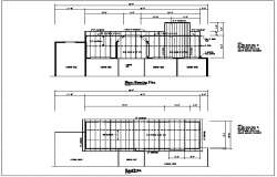 roof plan detail with dimension detail dwg files