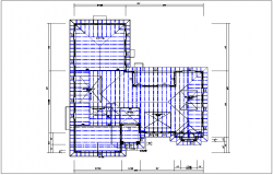 roof plan view with foundations of column plan layout detail dwg file