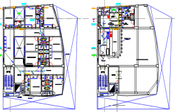 sanitary facility building dwg file
