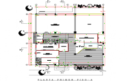 school planning detail dwg file