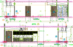 sectional details  of a room dwg file