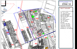 sector site plan layout detail view dwg file