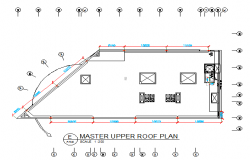 shop drawing upper roof lighting layout dwg file