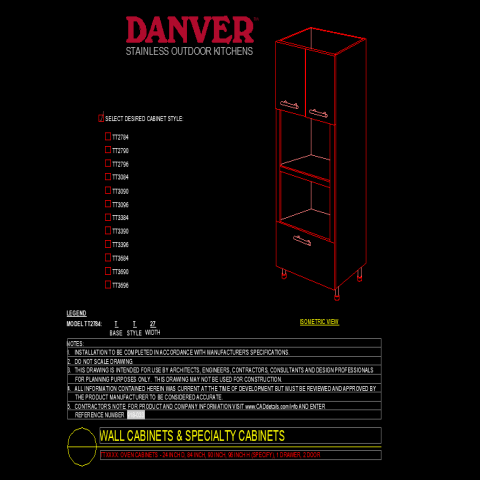 Single drawer double door Wall cabinet and special cabinets layout file