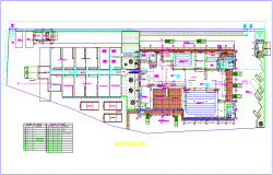 slaughter house leather working plant distribution plan with door and window detail dwg file