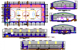 sports complex dwg file