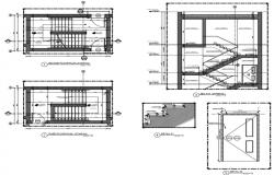 staircase plan,sections and  working detail