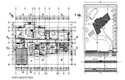 structural plan of villa  with Top view