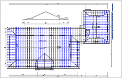 structure roof plan and elevation view detail dwg file