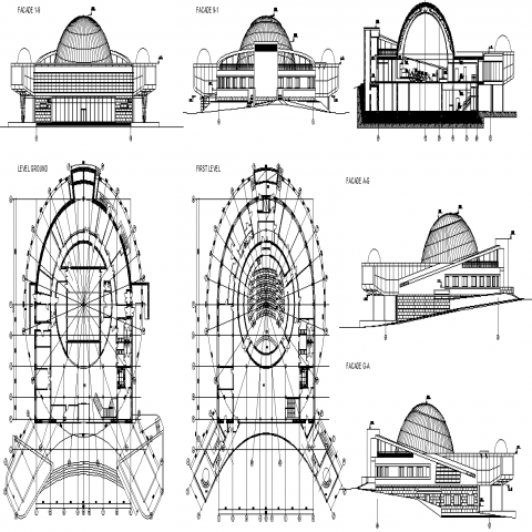 The architectural plan detail dwg file.