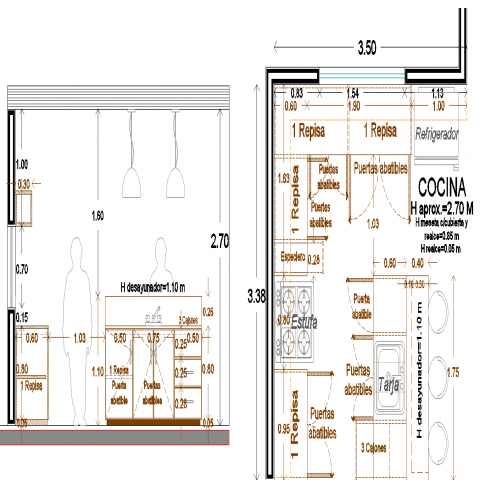 The cafeteria plan with a detail dwg file.
