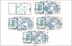 top view layout plan of a office dwg file