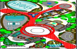 Gym layout plan dwg file